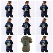 Women's Russell Wilson Earl Thomas III Richard Sherman Doug Baldwin Bobby Wagner Kam Chancellor 12 Fan Jimmy Graham Jersey(China)
