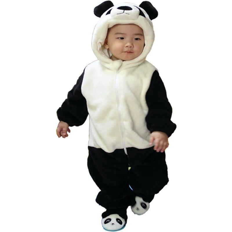 XJ-3, baby children romper, winter long sleeve thick mink wool panda hooded romper.<br><br>Aliexpress