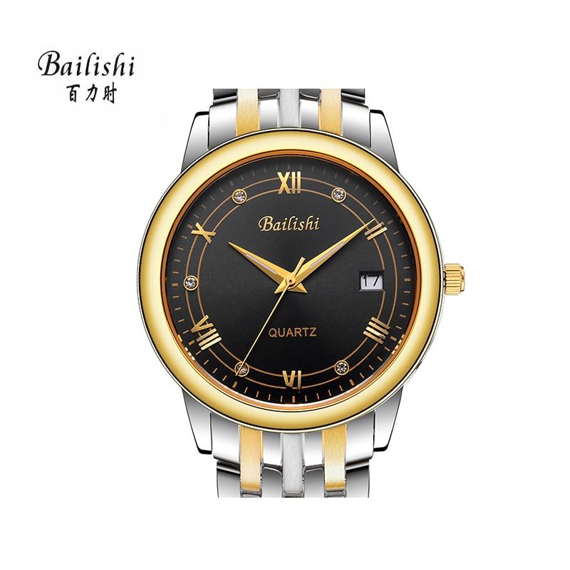 BAILISHI Top luxury brand men watch relogio masculino waterproof quartz stainless steel masculine wristwatch waterproof<br>