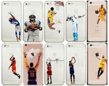 For iPhone 7 6 6S Plus 5 SE For Samsung S5 S6 S7 Edge OBJ Odell Watt LeBron James Kobe Curry Cam Jordan Basketball Football Case