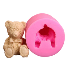 Sugar craft Silicone Molds Chocolate Animal Mold Fondant Mould Soap Clay 3D BEAR