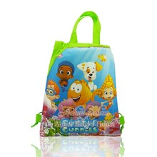 1pcs Bubble Guppies Cartoon Drawstring Backpack Bags 34*27CM Non-Woven Fabric Kids Gigt Party Supplies Gift Boxes & Bags