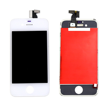LCD Display for iphone 4 Touch Screen Digitizer Full Assembly Replacement Parts Black White, Free Shipping +Tracking No.