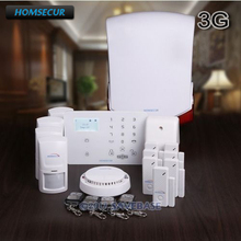 HOMSECUR Wireless&wired WCDMA/GSM LCD Home House Alarm System with Touch Panel(Pyccknn/Francais/Deutsch Menu Adjustable)(China)