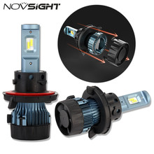NOVSIGHT H13 9008 Auto Car LED Headlight Hi/lo Beam Driving Fog Lamp Light Bulbs DIY Fan 60W 10000LM 6500K White D42(China)