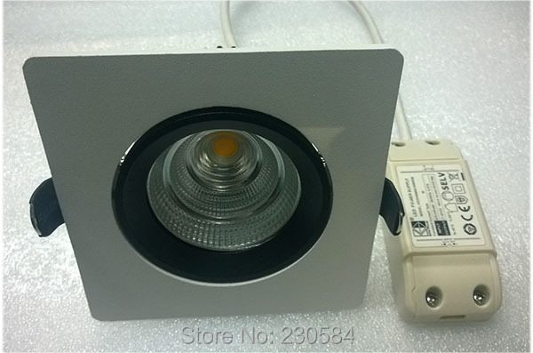 Good surface treatment square panel LED imported COB downlight adjustment,new integrated heatsink(China)