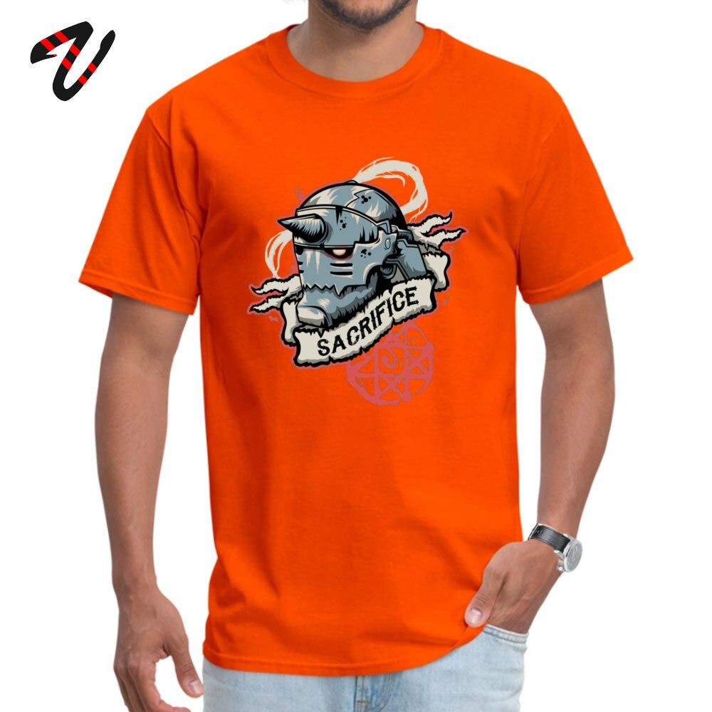 2018 New Fashion Men T-shirts Crew Neck Short Sleeve Pure Cotton Sacrifice Tops Tees Casual T-shirts Wholesale Sacrifice 15340 orange
