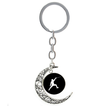 Casual sports elegant Fencing keychain vintage men women Kendo jewelry Archery Swimming Scuba Diving Surfing key chain ring T380