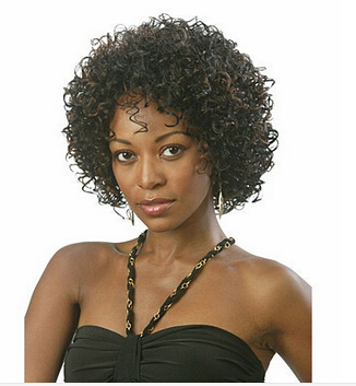Top quality shag cut Synthetic Wig Short Hair Curly African American Wigs for black women Fashion Hot sale wig cap<br><br>Aliexpress