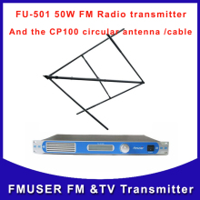 Fmuser CZH FU-T501 50W FM radio Transmitter  transmitter for wireless broadcast station and CP100 Circular antenna A KIT