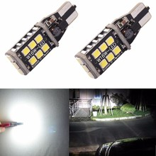 CANBUS Error Free 921 912 906 T15 800 Lumens 6000K Xenon White High Power 2835 15-SMD LED Lights Bulbs for Back Up Reverse Light