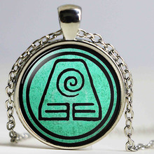 Fire Last Airbender Fire Nation Earth Kingdom Air Nomad Airbender Water Tribe sea wave Elements Pendant Necklaces Jewelry(China)
