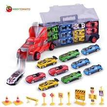 Buy New Truck 10pcs Alloy Car Road Sign Plastic Alloy Models Toy Children Educational Toys Simulation Model Gift Boys for $25.49 in AliExpress store