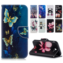 Buy Fashion Flower Painted Pattern Leathrer Case Wallet Cover Samsung Galaxy J7 J5 J3 2017 2016 J720 J520 J710 J510 J320 J310Bag for $4.49 in AliExpress store