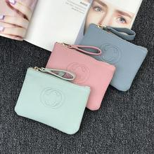 Female beautiful purses money fine leather Bag Womens Short Small wallets For Girls Coin Mini Ladies Candy Wallet Thin Pocket(China)