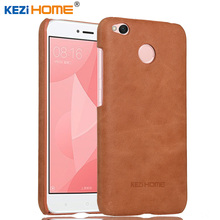 "Buy Xiaomi Redmi 4X case KEZiHOME Frosted Genuine Leather Hard Back Cover Redmi 4X 4 X 4 pro 5.0"" Phone Protector cases for $9.90 in AliExpress store"