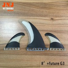 "FREE SHIPPING factory directly quality sup stand up paddle board fin system 8"" SUP centre fin and 2 pcs future G3 fin"