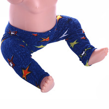 lucky doll  Stylish star pattern Leggings for 18 inch American Girl dolls and 43cm newborn baby Zapf dolls gift n625