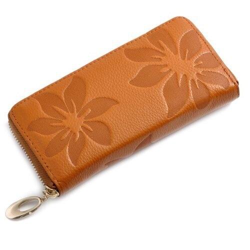 Women Wallets Fashion Flower Print Genuine Leather Wallets Women Clutch Wallets Lady Vintage Clutch Bag Coin Purse Women<br><br>Aliexpress