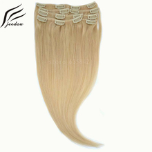 jeedou Synthetic Clip In Hair Extensions Medium Length Straight 20inch 50cm 7Pcs 120g Real Natural Hair  12Color Hairpieces