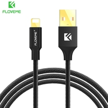 FLOVEME Micro USB Cable for iPhone 6 6s 7 Plus 5S 5 SE iPad Cabo USB Nylon Charger Cable Power Cord Wire Fast Charging for Apple
