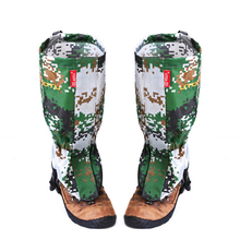 Camouflage Water Resistant Shoe Bindings Legging Gaiters 420D polyester Snow ski Camouflage Boots Cover Outdoor Tools