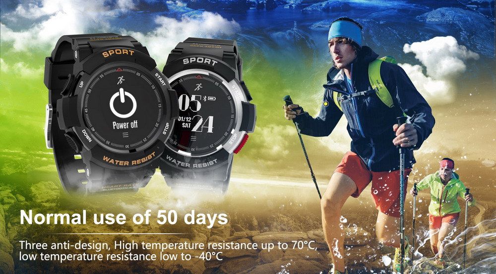 DTNO.1 Smart Watches F6 50m Waterproof Smartwatches Sports Nordic NRF51822 Smart Watch Sleep Monitor Remote Camera IOS Android (1)