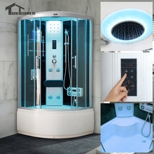 90cm Black NO Steam Shower room Bath Cabin Room hydro Cubicle Enclosure Cabin cubicle Enclosure glass walking-in sauna 903