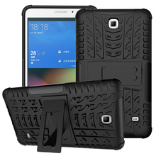 For Samsung Galaxy Tab 4 7.0 Pad Cover TPU PC Stand Pouch Bag Protective Armor Shell For For Samsung T230 T231 T235 Tablet Case(China)