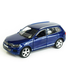 RMZ City Touareg SUV 1:32 Toy Vehicles Alloy Pull Back Mini Car Replica Authorized By The Original Factory Model Toys collection