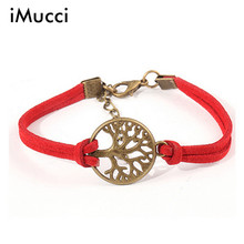 iMucci New Fashion Women Wild Multilayer Woven Bracelet Handmade Retro Circle Tree Strap Jewelry Gift Wholesale Casual Sporty(China)