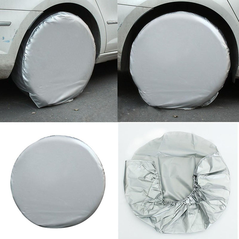 Mayitr 4PCs/Set Auto Spare Wheel Tire Cover Bag Car Waterproof Dustproof Tire Cover For Truck Trailer RV Camper Motorhome(China (Mainland))