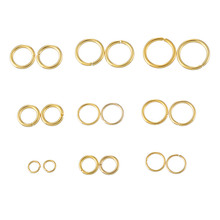 2*20PCs Stainless Steel Circle Jump Ring gold color New Fashion