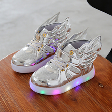 Buy 2017 Autumn Kids LED luminous Sneakers Glowing Brand Child Breathable Light Flashing Baby Boys Casual Shoes girl size 21~30 for $7.79 in AliExpress store