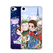 MEIZU U10 Case,Silicon Fashion Girl Painting Soft TPU IMD Back Cover U 10 Transparent Phone Bags - jocelyn li store