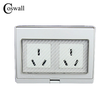 IP55 Report CE Wall Waterproof Dust-proof Power Socket, 16A AU / New Zealand Standard Double Electrical Outdoor Outlet Grounded()