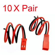 Wholesale rc helicopter parts 10pairs JST Connector Plug With Connect Cable For RC BEC ESC Battery
