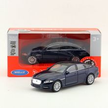Welly DieCast Metal Model/1:36 Scale/2010 JAGUAR XJ Super Toy Car/Pull Back Educational Collection/Children's gift/Collection