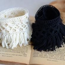 2 Meters Best Price Cotton Fringe Lace Trim Sewing Material Accessories Hot Sale Beige Black Design Lace Fabric Ribbon