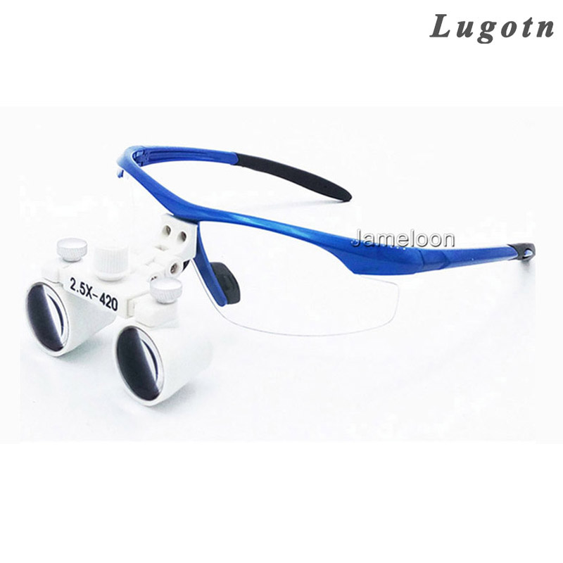 2.5X magnify dental magnifier medical equipment antifog loupes optical glasses Dentist 2.5 times surgical loupe<br>