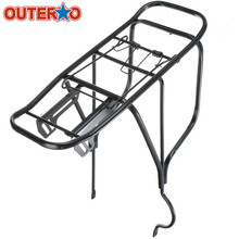 OUTERDO Bicycle Bike Aluminum Alloy Rear Rack Balck Aluminium Alloy Bicycle Rear Saddle Quick Removal Installation