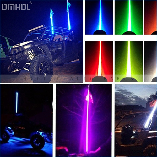Free Shipping 1pc 6ft Off-Road Safety LED Whips Light(China (Mainland))