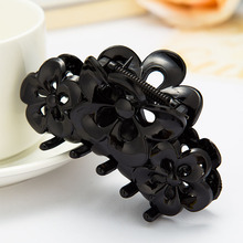 Fashion Hair Claws Hollow Translucent Gripper Floral Barrette for Women Female Acetate Crab Difference Size Plastic Hair Clip