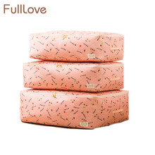 FullLove 60*50*28cm M L XL Quilts Storage Bags Folding Pink Dots Clothes Pillows Blanket Organizer Home Storage & Organization(China)