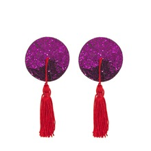 Reusable Women Nipple Cover Sequin Tassels Pasties Temptation Pezones Sexy Breast Tape Self Adhesive Nipple Stickers