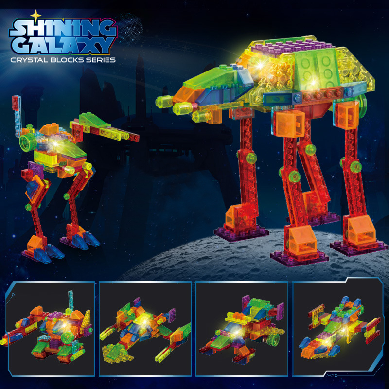 New Luminous Space Shuttle Building Blocks With LED Light Star Wars Warship Spaceship Model Compatible Legoes Block Toys<br><br>Aliexpress