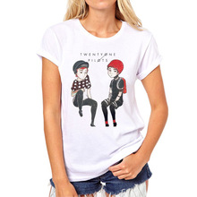 Buy Summer Rock Roll Pattern T-shirt Fashion Twenty One Pilots Women's T Shirt Casual 21 Pilots Short Sleeve punk Tee Shirts 79N-3# for $7.92 in AliExpress store