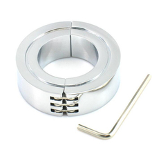 stainless steel Scrotum ring metal Locking Hinged Cock Ring OR CBT Ball Stretchers Chrome Finish Scrotum Stretchers