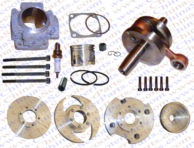 Performance Cylinder Head Piston Ring Crankshaft Kit (Big Bore Kit) for 47CC 49CC Mini Moto Dirt Pit Bike Parts<br><br>Aliexpress