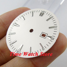 34.8mm white sterial dial super luminous silver marks Watch Dial for ETA 2836 Mingzhu 2813 4813 Movement D39